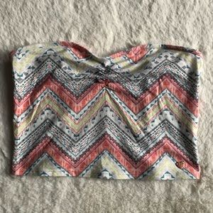Kendall and Kylie patterned crop top